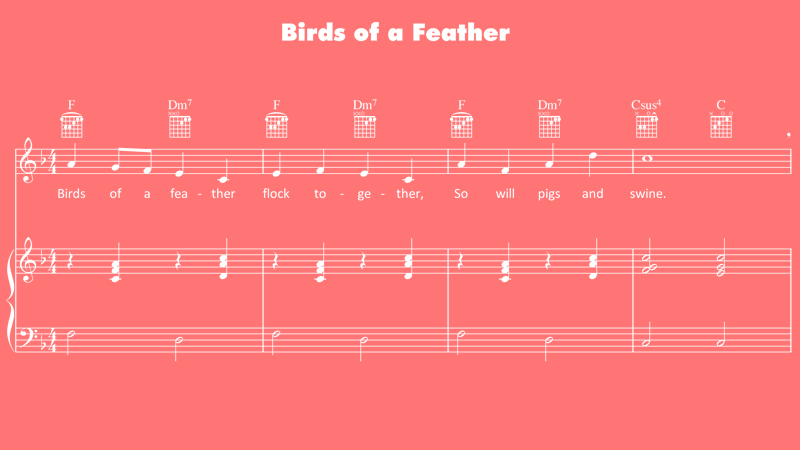 Image for Birds of a Feather – Sheet Music