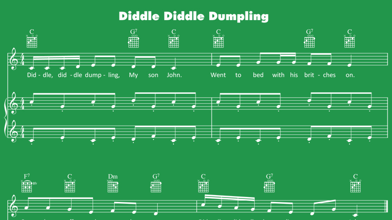 Image for Diddle, Diddle, Dumpling – Sheet Music