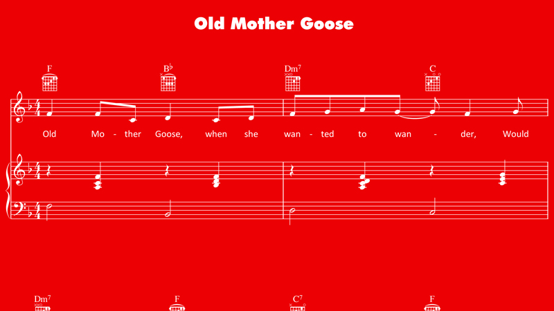 Image for Old Mother Goose – Sheet Music