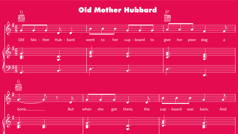 Image for Old Mother Hubbard – Sheet Music