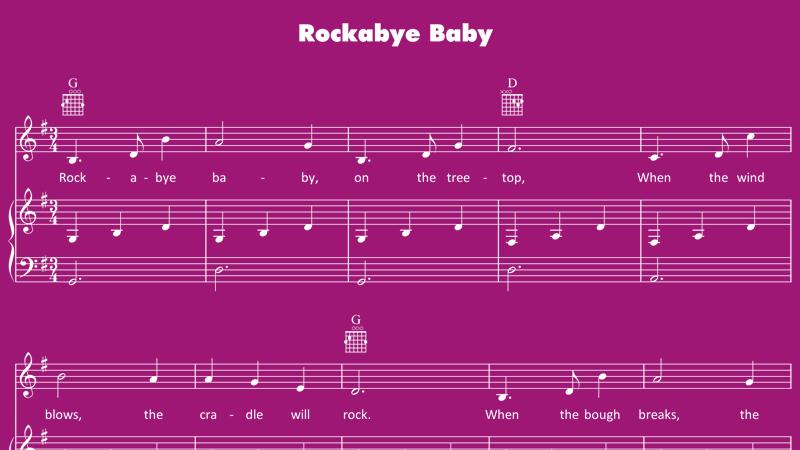 Image for Rockabye Baby – Sheet Music