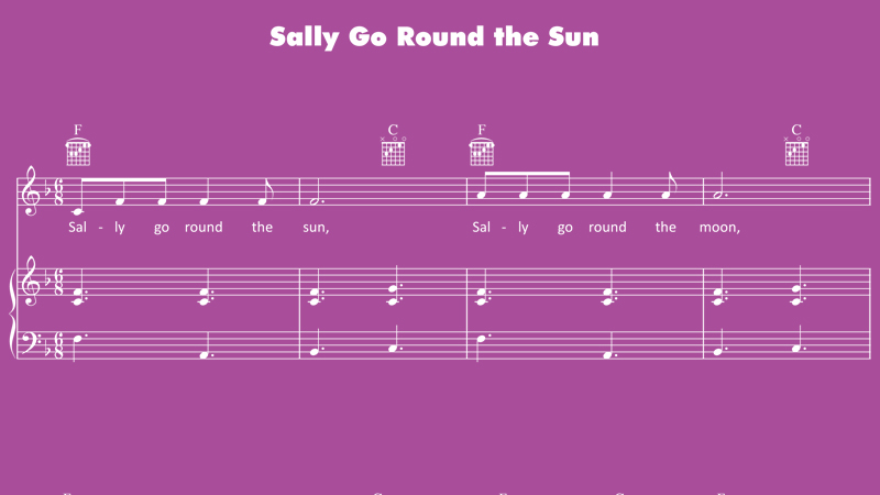 Image for Sally Go Round the Sun – Sheet Music