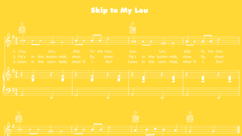 Image for Skip to My Lou – Sheet Music
