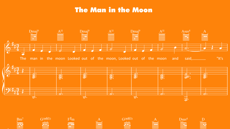 Image for The Man in the Moon – Sheet Music