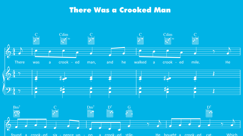 Image for There Was a Crooked Man – Sheet Music