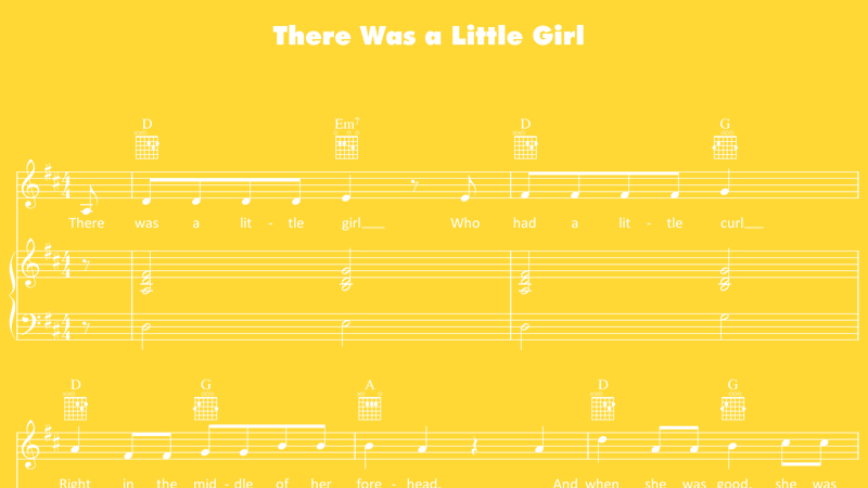 Image for There Was a Little Girl – Sheet Music
