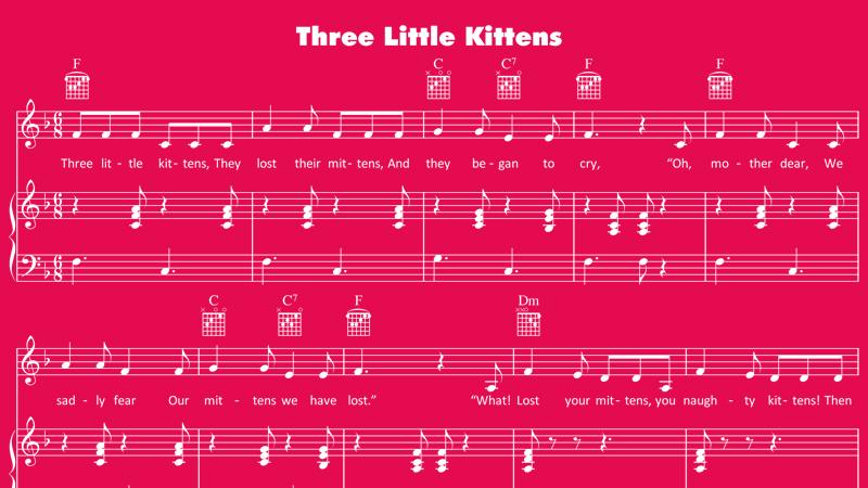 Image for Three Little Kittens – Sheet Music