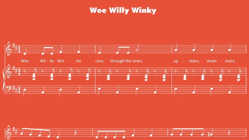 Image for Wee Willie Winkie – Sheet Music