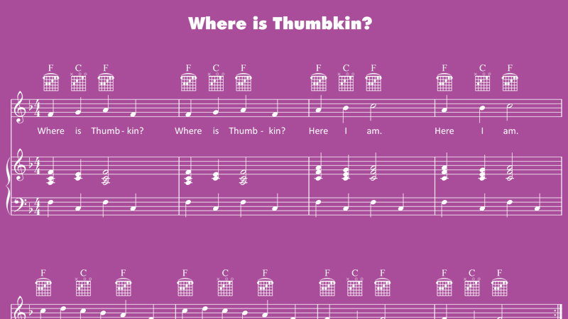 Image for Where Is Thumbkin? – Sheet Music