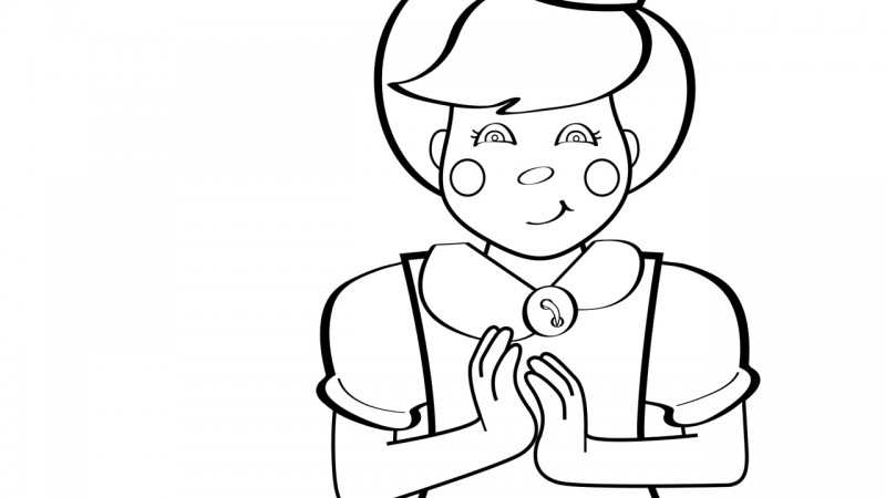 Image for Clap Your Hands – Coloring Page