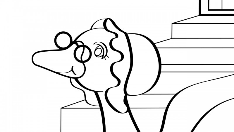 Image for Goosey, Goosey, Gander – Coloring Page