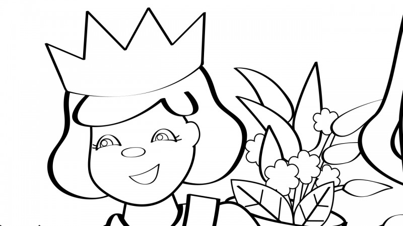 Image for Lavender's Blue – Coloring Page