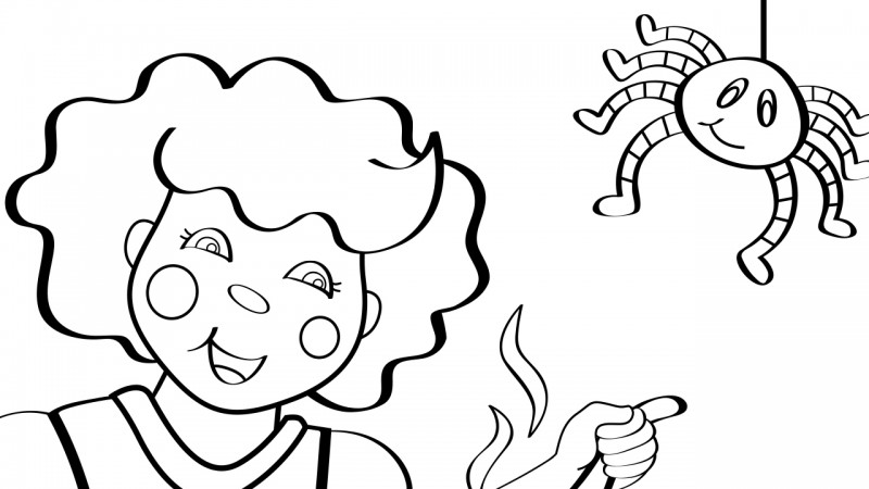 Image for Little Miss Muffet – Coloring Page