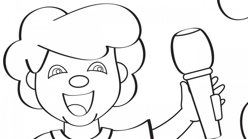 Image for Little Tommy Tucker – Coloring Page