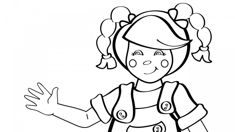 Image for Mary Had a Little Lamb – Coloring Page