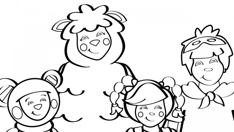 Image for Mother Goose Club Theme Song – Coloring Page