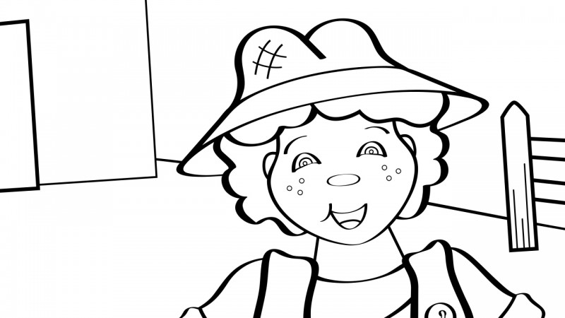 Image for Old MacDonald Had a Farm – Coloring Page