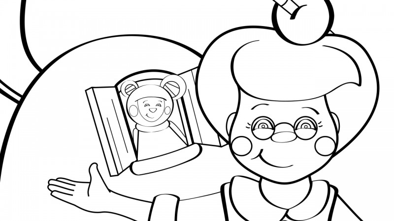 Image for Old Woman Who Live in a Shoe – Coloring Page