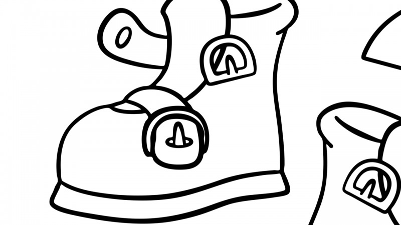 Image for One, Two, Buckle My Shoe – Coloring Page