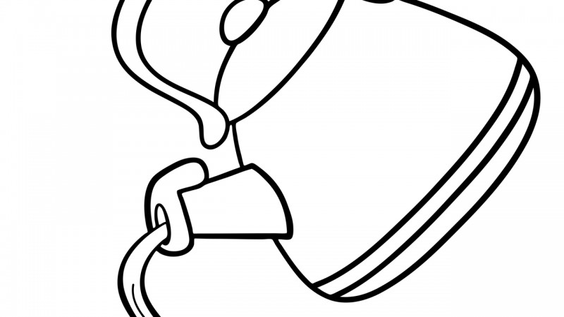 Image for Polly, Put The Kettle On – Coloring Page