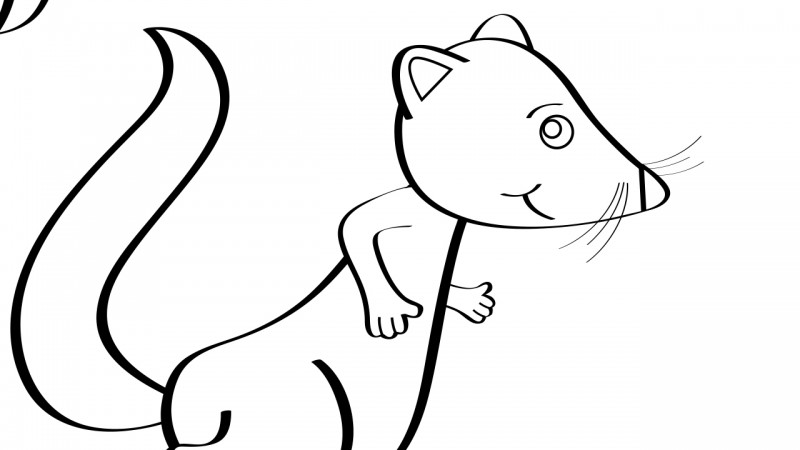Image for Pop Goes the Weasel – Coloring Page
