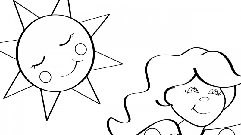 Image for Sally Go Round the Sun – Coloring Page