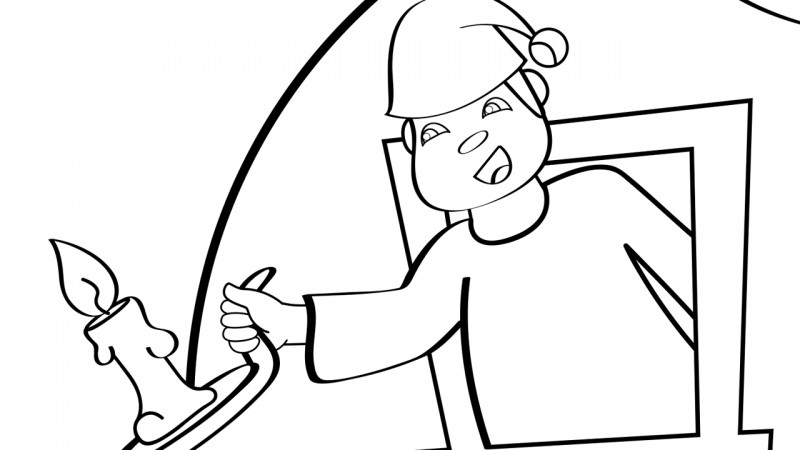 Image for The Man in the Moon – Coloring Page
