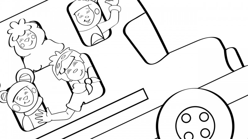 Image for The Wheels on the Bus – Coloring Page