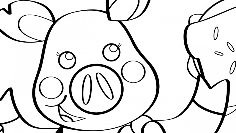 Image for This Little Piggy – Coloring Page