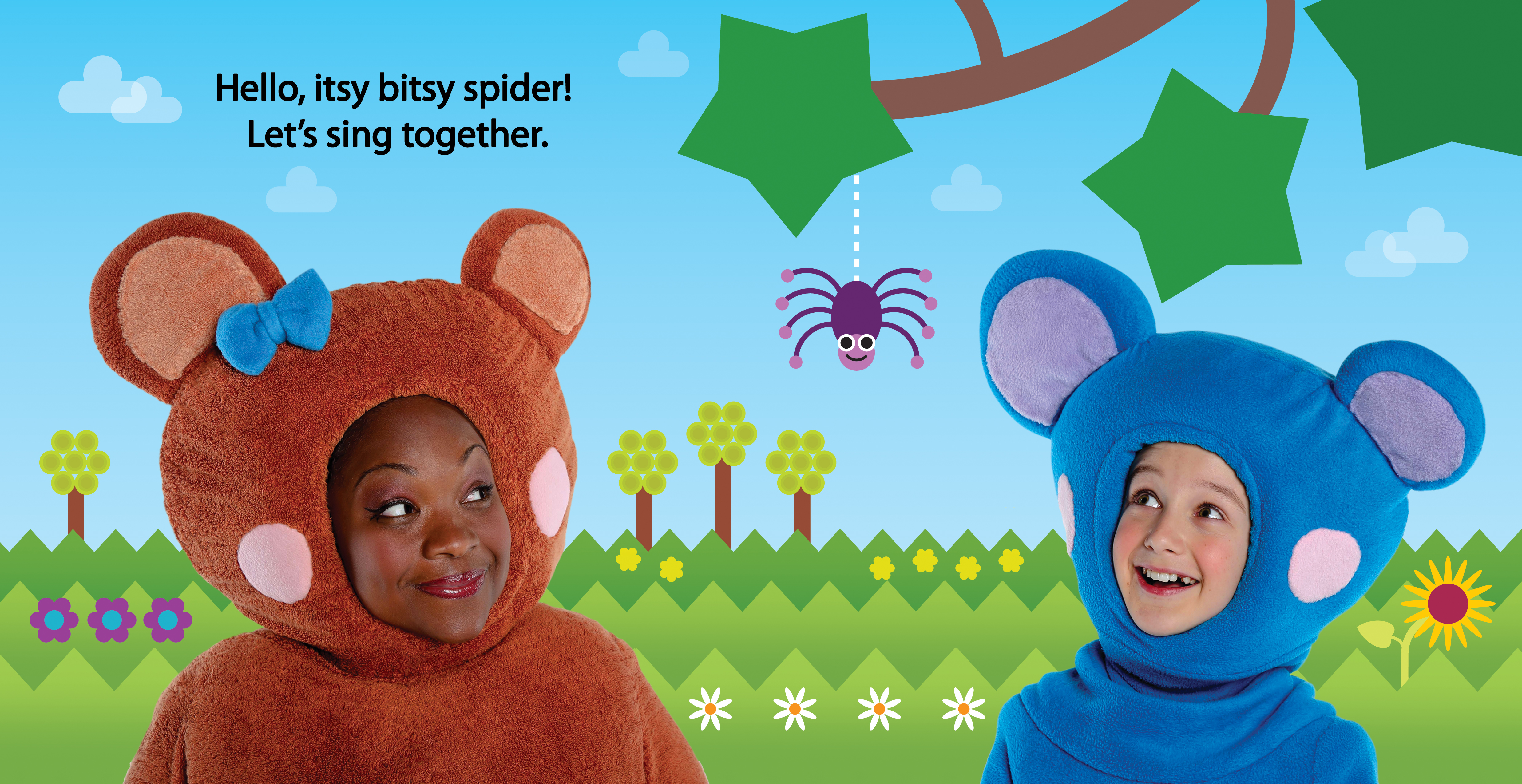 The Itsy Bitsy Spider book spread