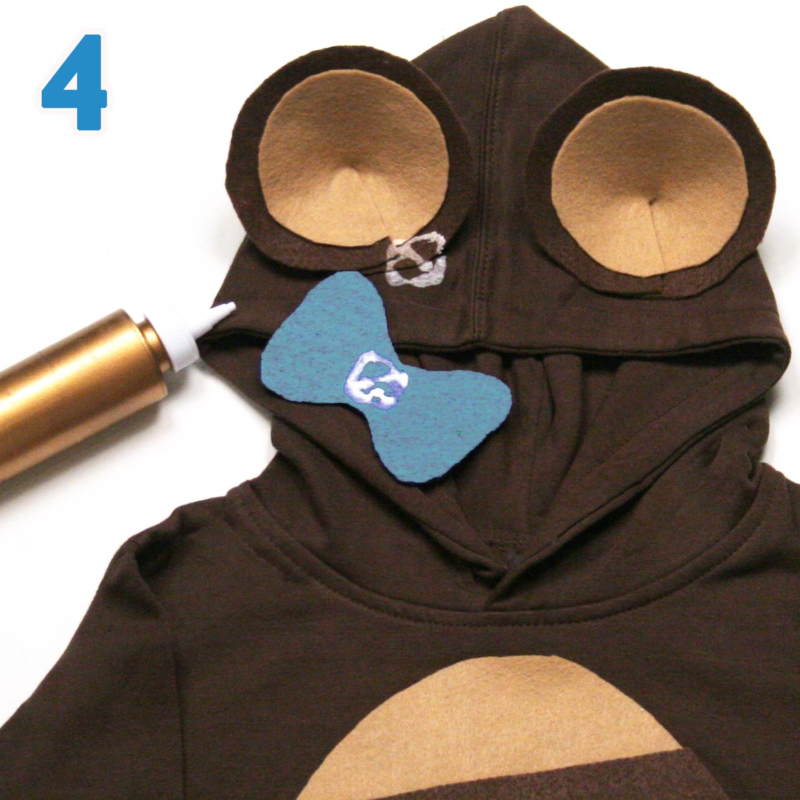 Teddy costume step 4