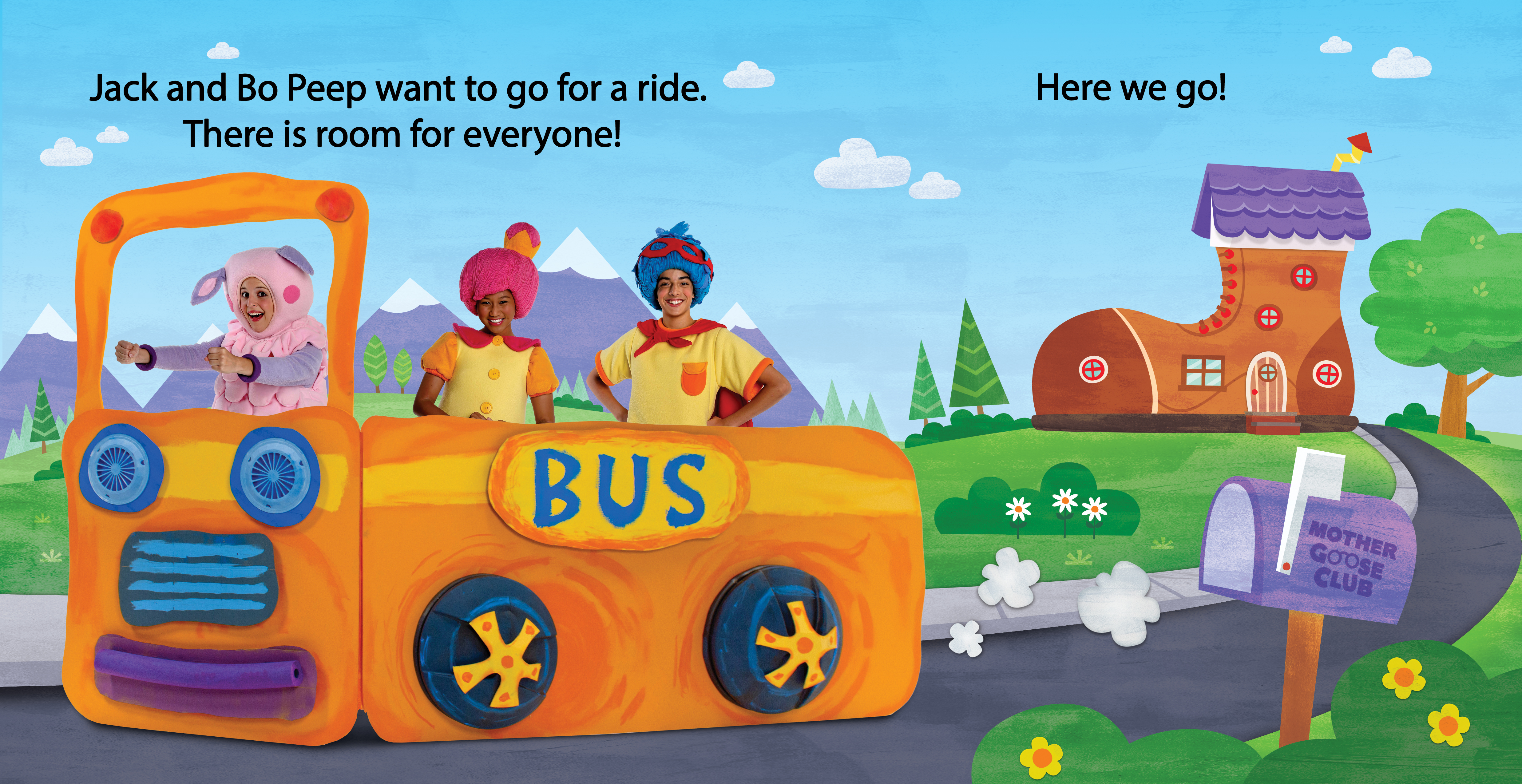 The Wheels on the Bus book spread