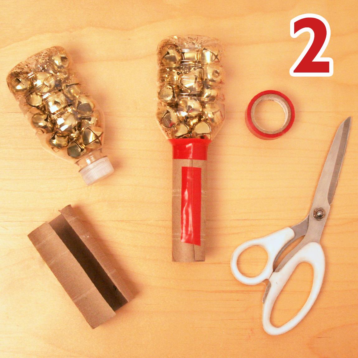 Holiday shaker craft step 2