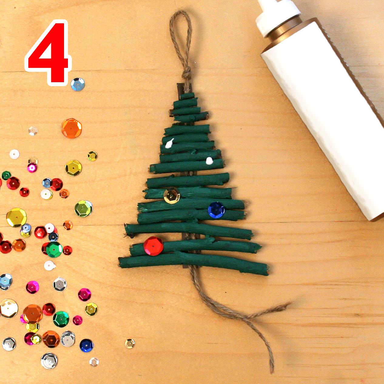 Christmas tree ornament craft step 4
