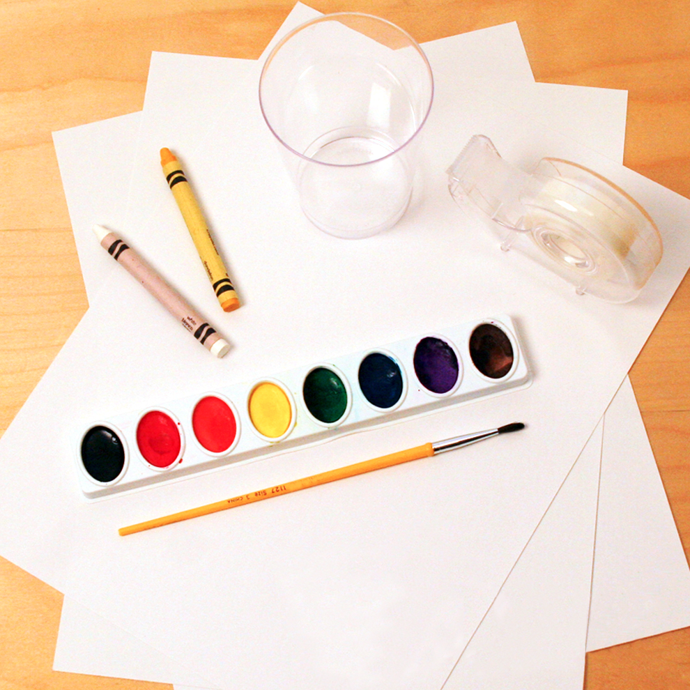 Watercolor holiday cards craft materials