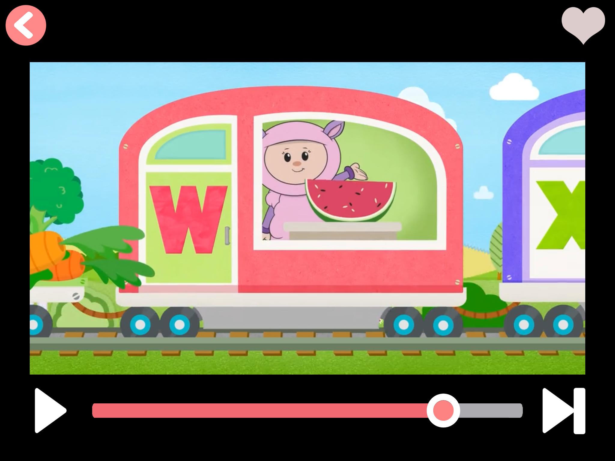 App Alphabet Train video