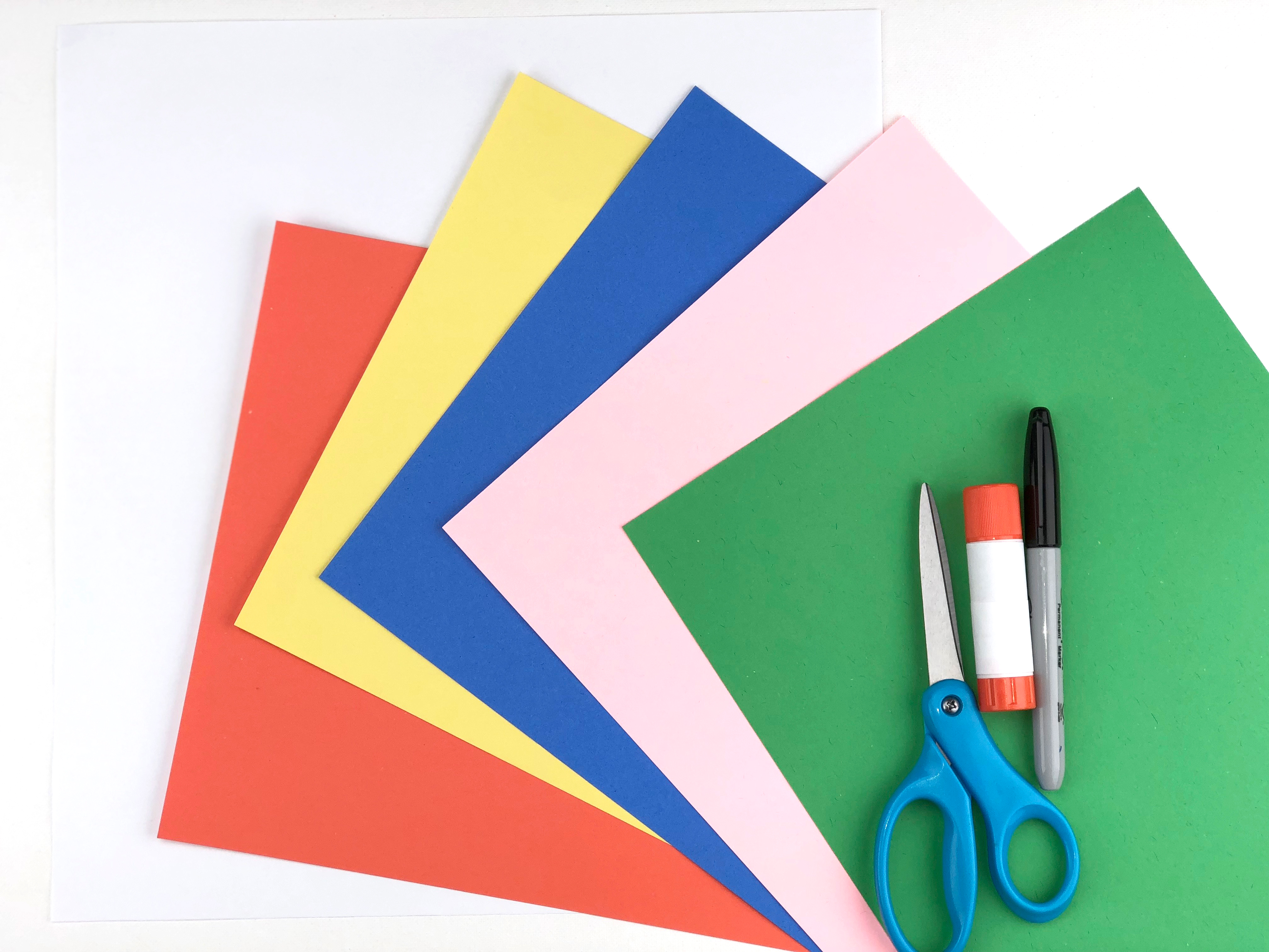 Crazy Hair Day Craft paper materials