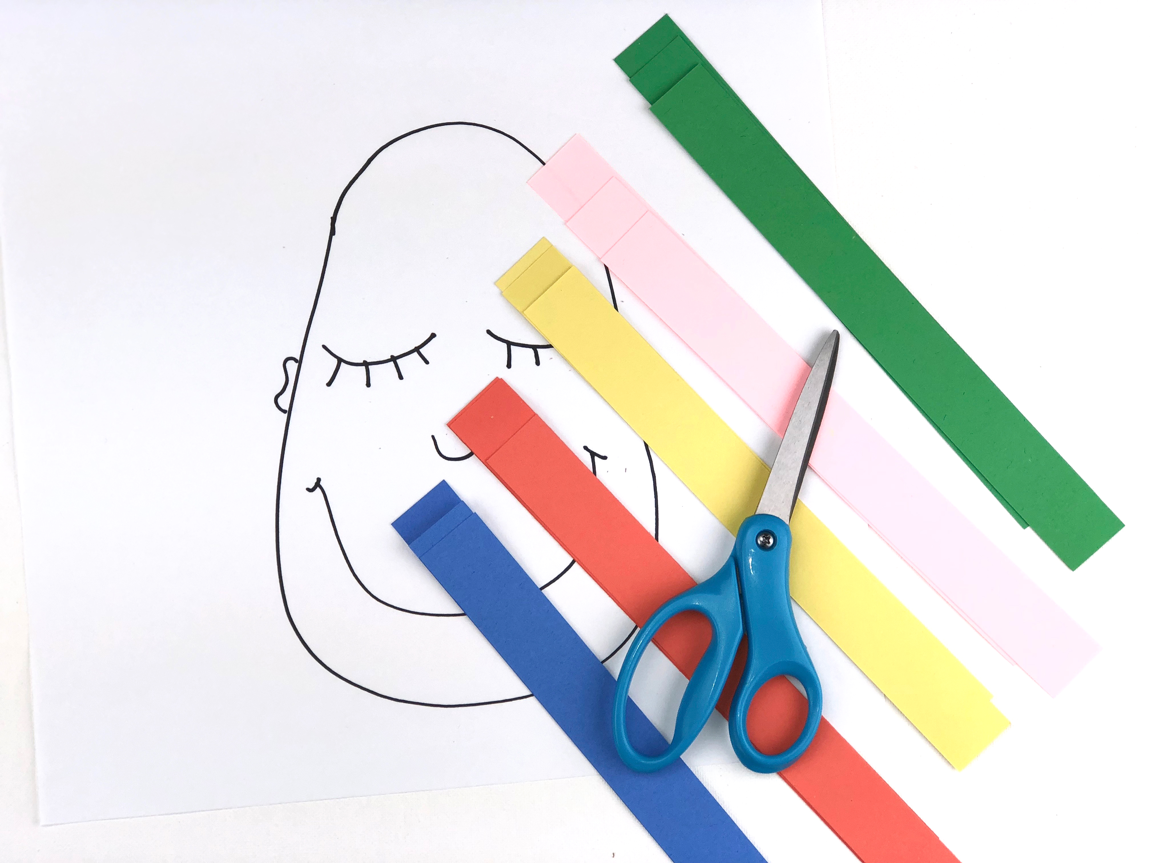 Crazy Hair Day Craft paper step 2