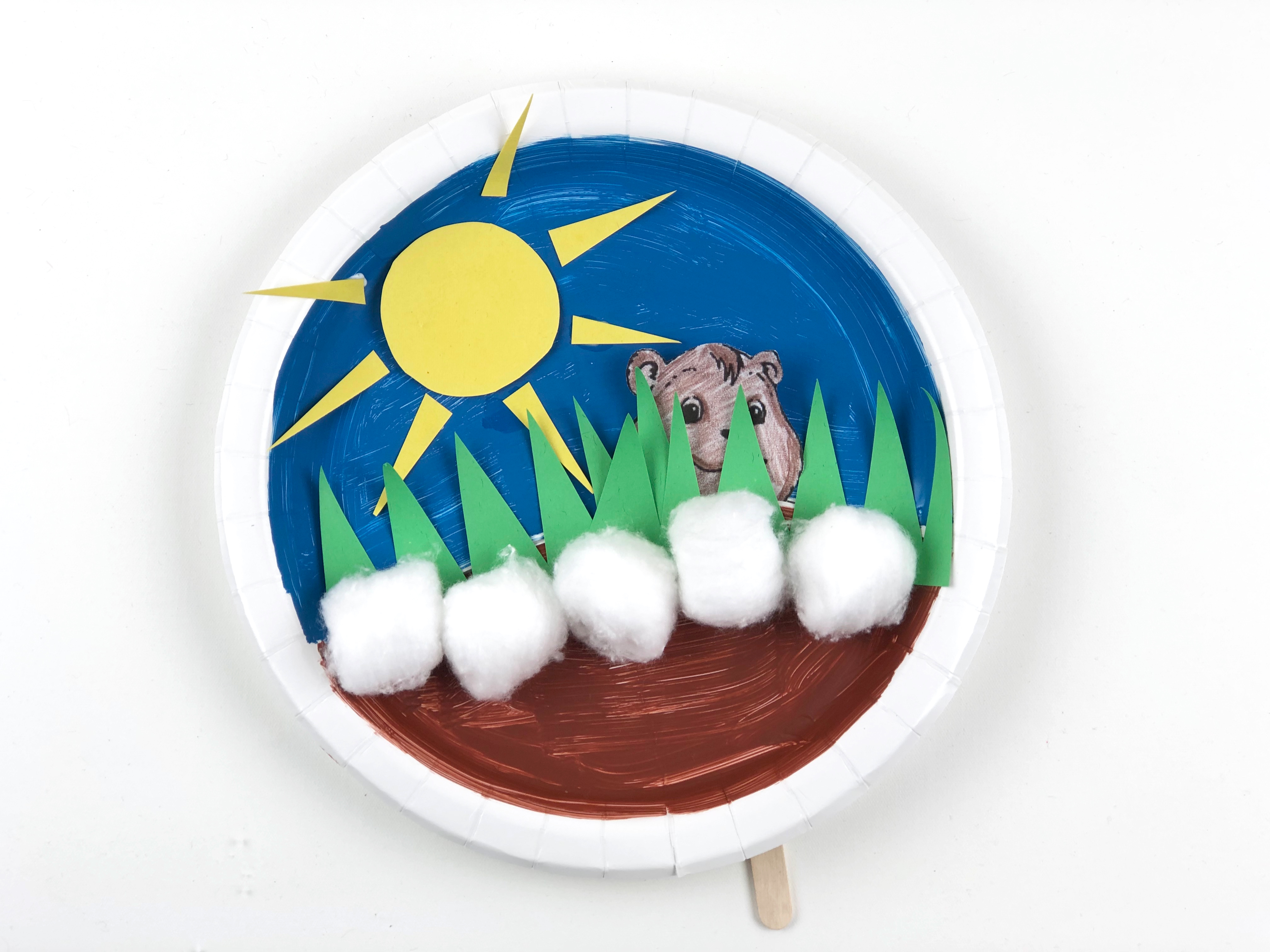 Groundhog Day Paper Plate Craft final