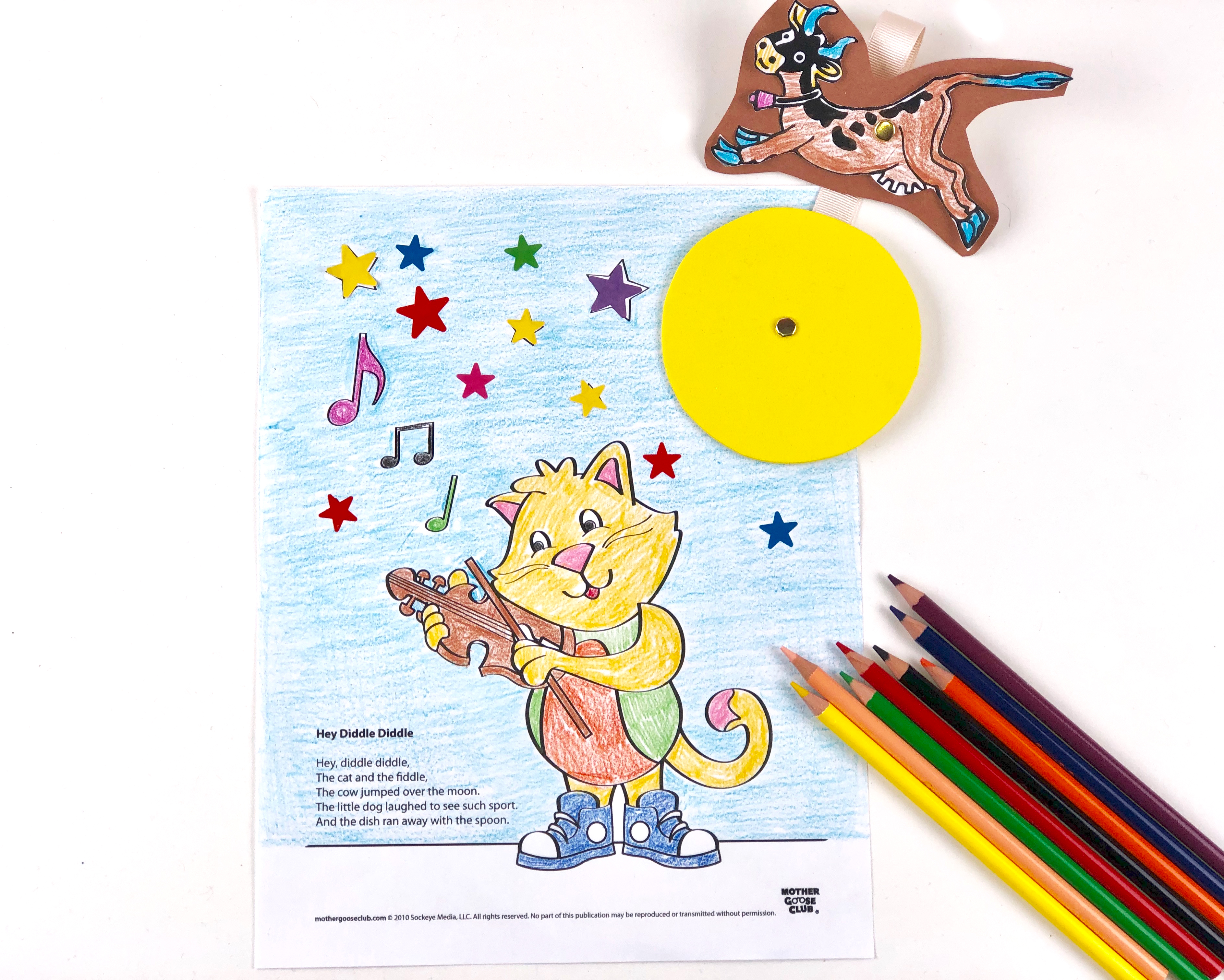 Hey Diddle Diddle Coloring Craft final
