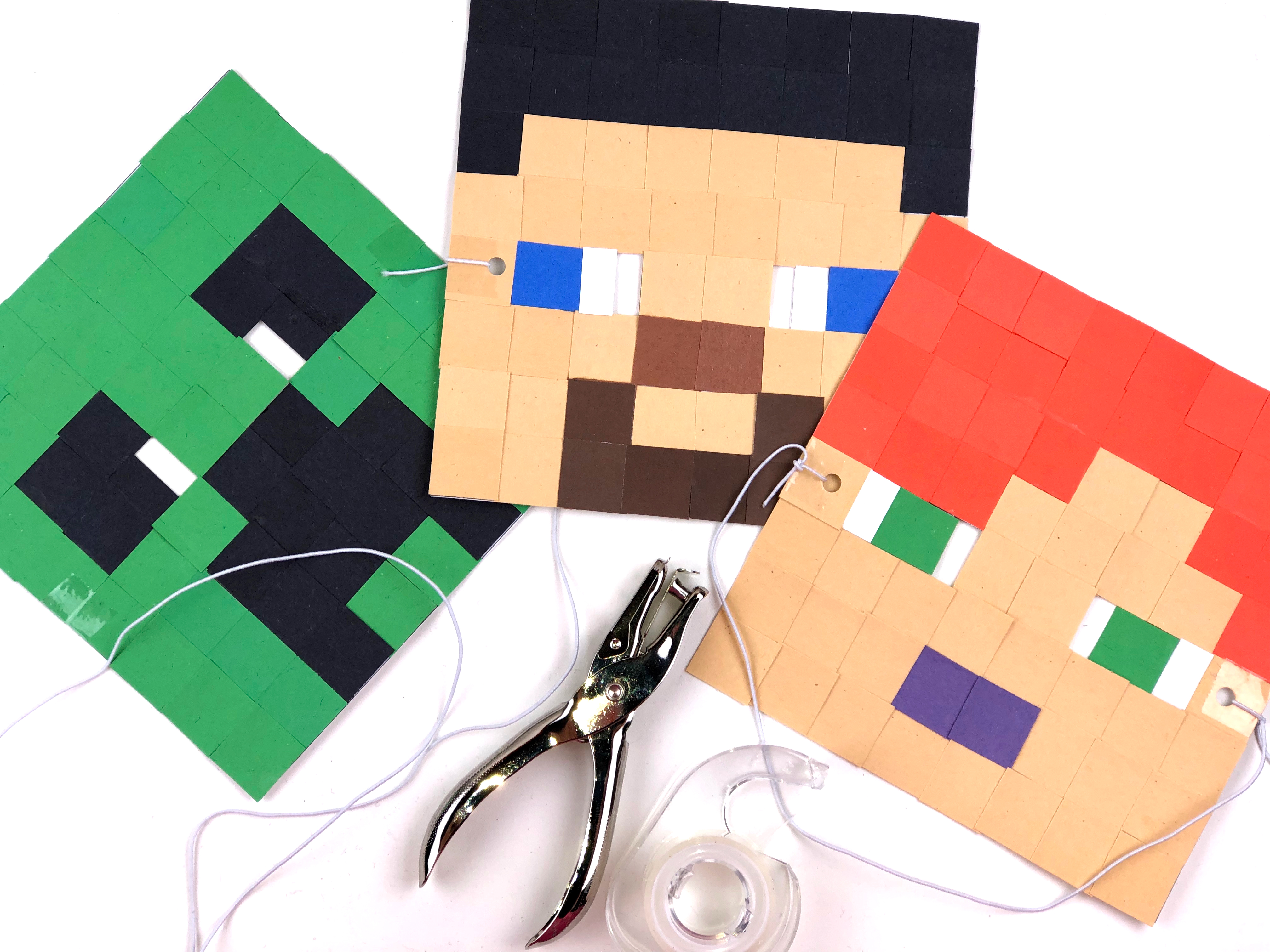 Minecraft Mask Craft step 2