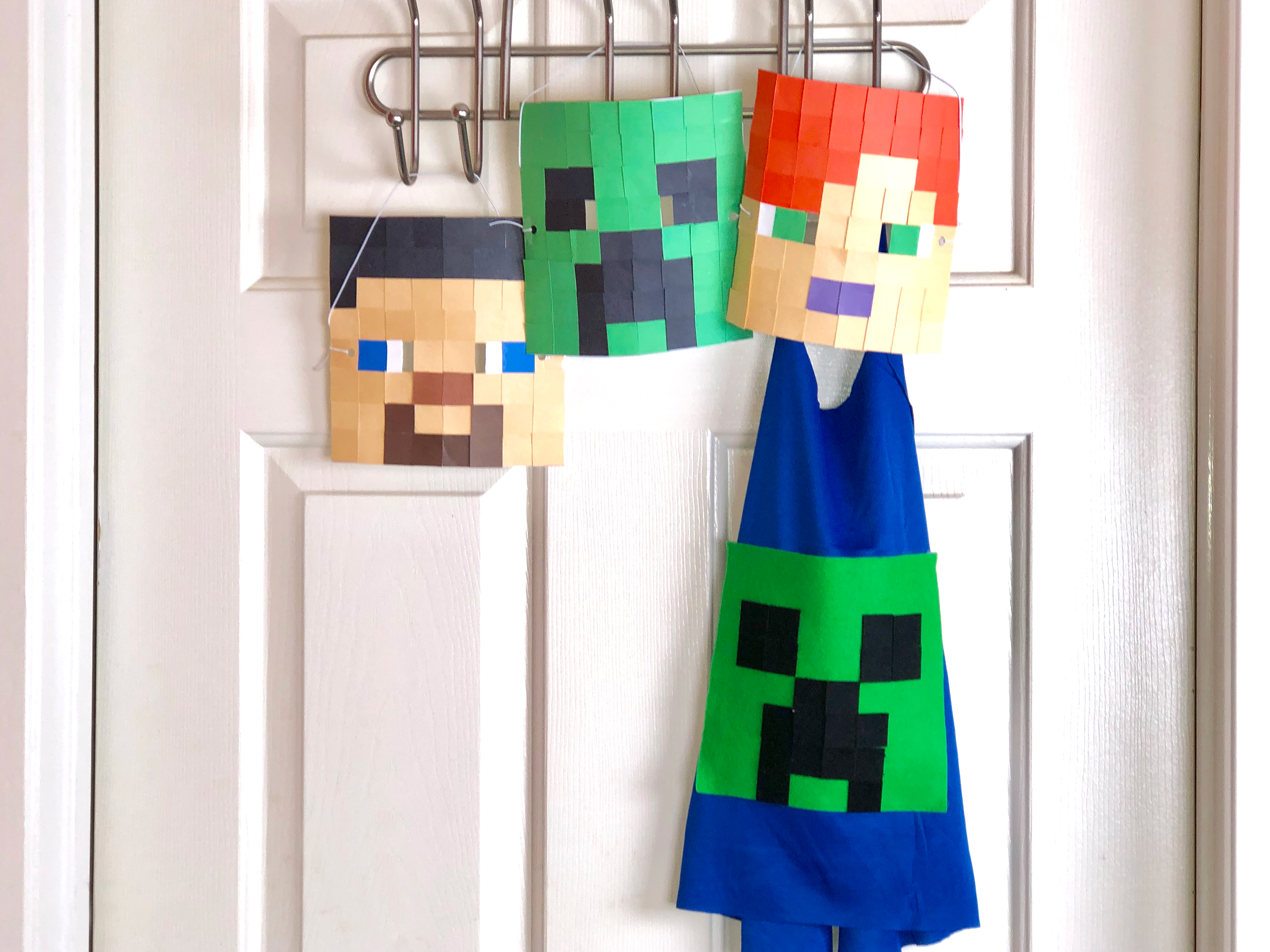 Minecraft Mask and Cape Craft final