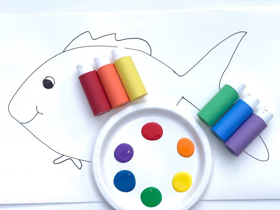 Rainbow Fish Craft step 2