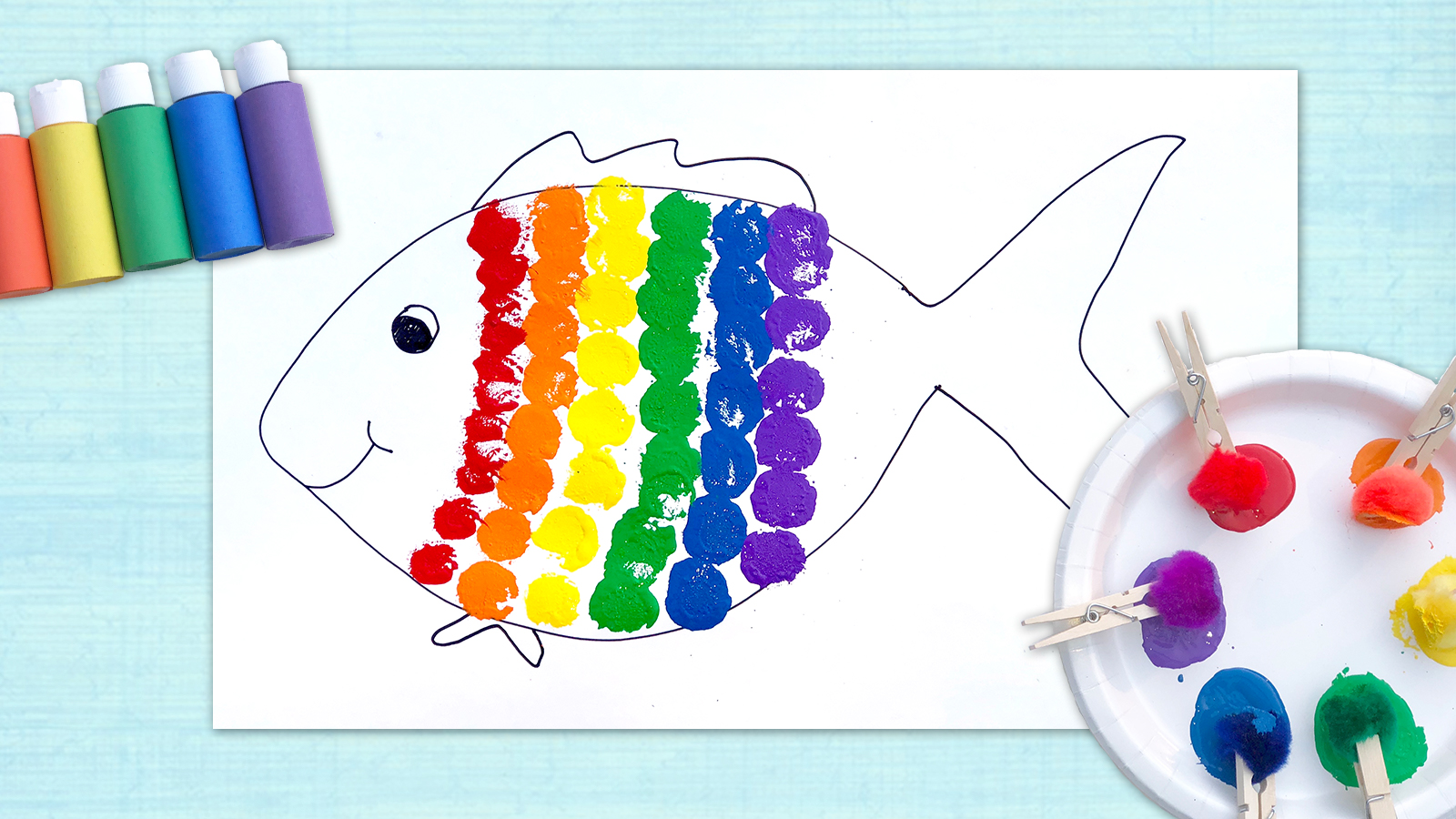 Rainbow Fish Craft - Mother Goose Club