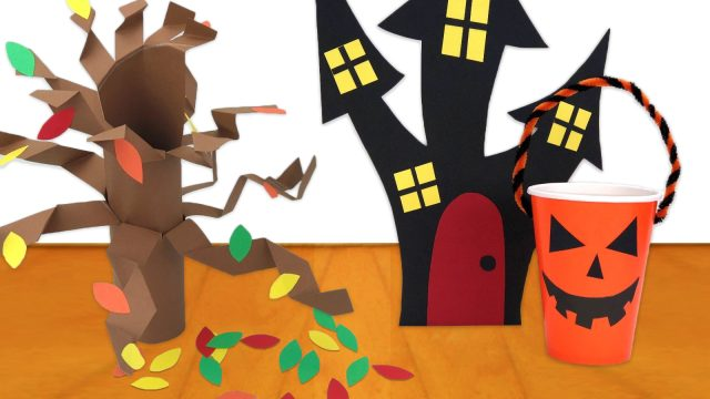 Haunted House Halloween Craft
