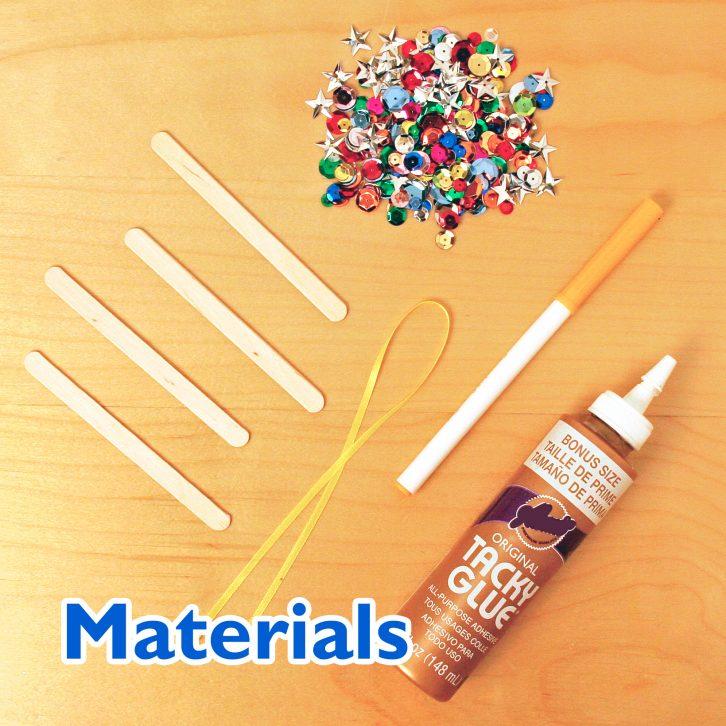 Twinkling Star Ornament Craft materials