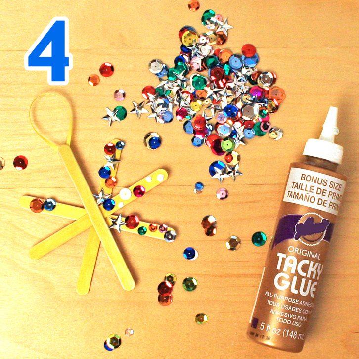 Twinkling Star Ornament Craft step 4