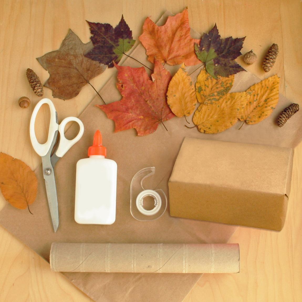 Fall tree craft materials