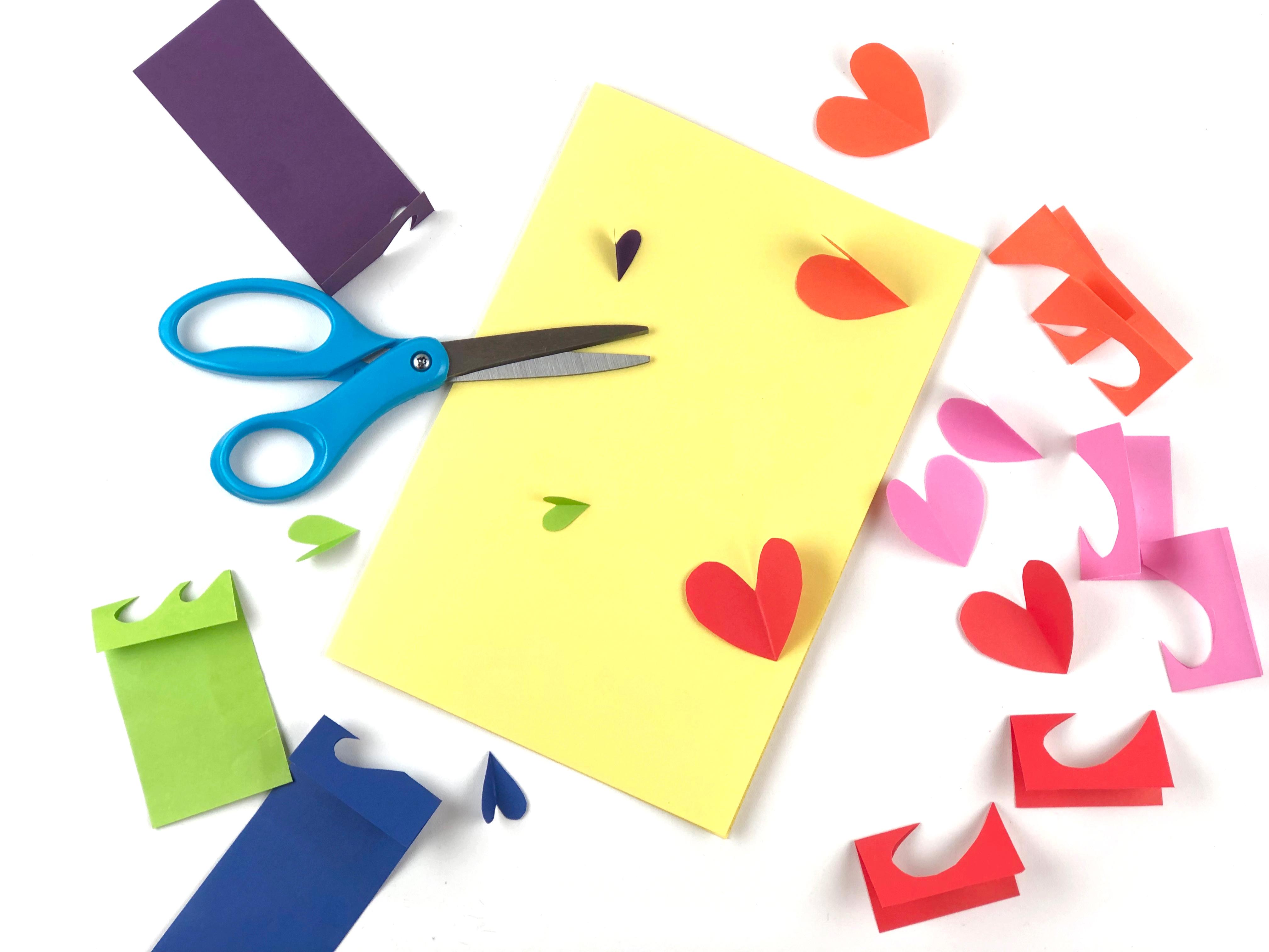 Valentine's Day Card Craft step 1
