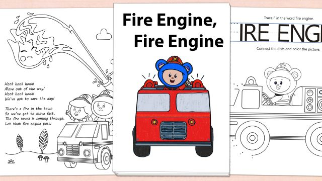 Fire Engine, Fire Engine Printables